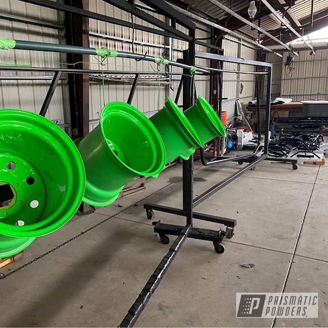 Powder Coating: Wheels,Automotive,rockin rims,Applied Plastic Coatings,Neon Green,Neon Green PSS-1221