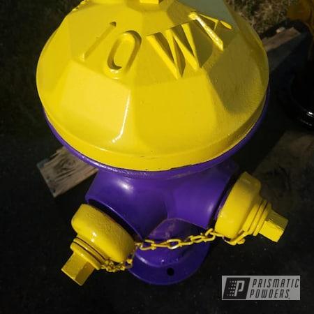 Powder Coating: Fire Hydrant,2 Color Application,Vintage,RAL 1018 ZincYellow,Crimson Purple PMB-2054,Miscellaneous