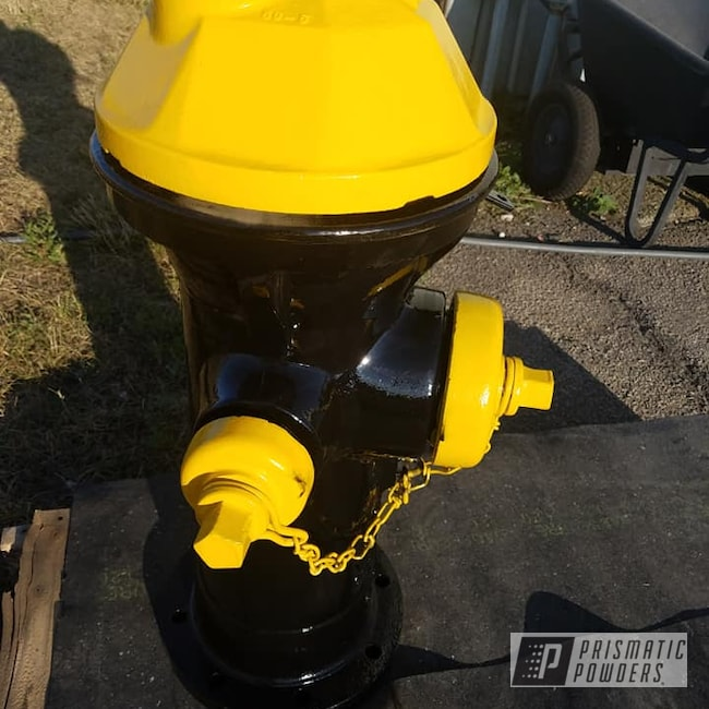 Powder Coating: Fire Hydrant,2 Color Application,Ink Black PSS-0106,Vintage,RAL 1003 Signal Yellow,Miscellaneous