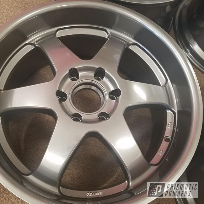 "Powder Coating: Wheels,19"" Wheels,Automotive,19"" Aluminum Rims,Ultra Charcoal PMB-5531,Automotive Rims,Aluminum Wheels"