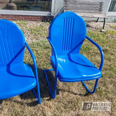 Powder Coating: Vintage Chairs,Brazilian Blue PMB-0770,Patio Chairs,Lawn Chairs,Furniture