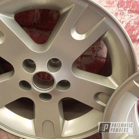 """Powder Coating: Wheels,Automotive,15"""" Aluminum Wheels,Crushed Silver PMB-1544,Automotive Rims,Automotive Wheels,Aluminum Wheels"""