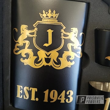 Powder Coated Flask Set In Uss-1522 And Ppb-4499