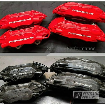 Powder Coated Porsche 993 Caliper Restoration