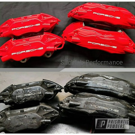 Powder Coating: Red Wheel PSS-2694,Automotive,Calipers,Clear Vision PPS-2974,Brake Calipers,Porsche