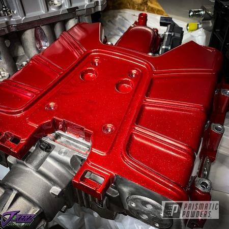Powder Coating: Automotive,POLISHED ALUMINUM HSS-2345,Custom Engine Parts,Audi,HONEY RED UPB-1590,Audi Supercharger,Car Parts,Audi A4,Supercharger