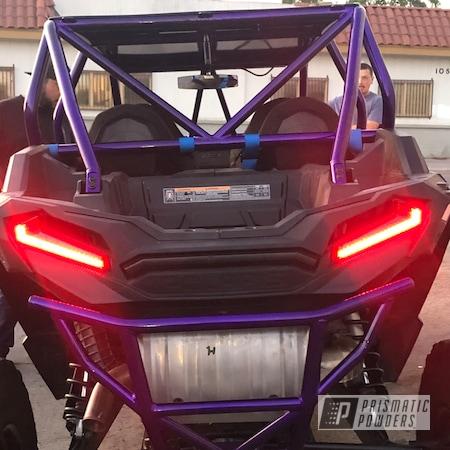 Powder Coating: Automotive,Polaris RZR,POLISHED ALUMINUM HSS-2345,Polaris,Candy Purple PPS-4442,Roll Cages