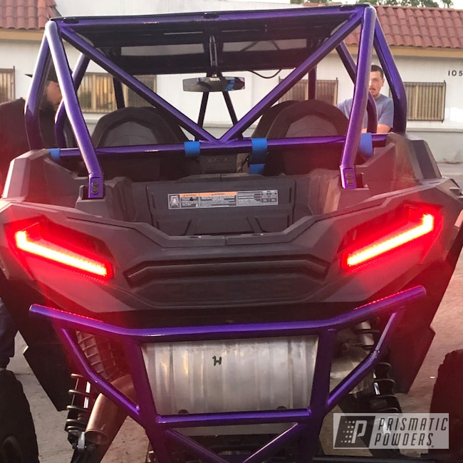 Powder Coating: Automotive,Polaris RZR,POLISHED ALUMINUM HSS-2345,Polaris,Candy Purple PPS-4442,Roll Cages