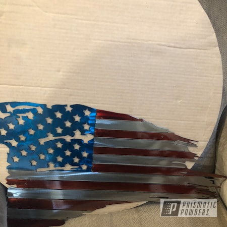Powder Coating: Clear Vision PPS-2974,American Flag,Flags,Metal Sign