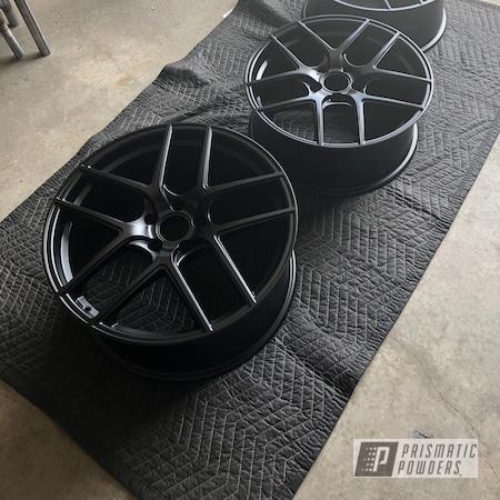 Powder Coating: Wheels,Automotive,Ink Black PSS-0106,Aluminum Wheels