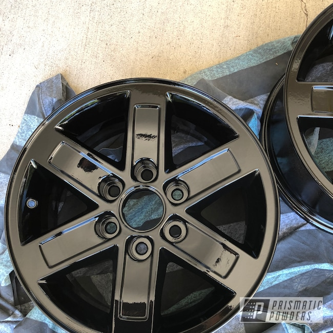 Powder Coating: Wheels,Automotive,Ink Black PSS-0106,Aluminum Wheels