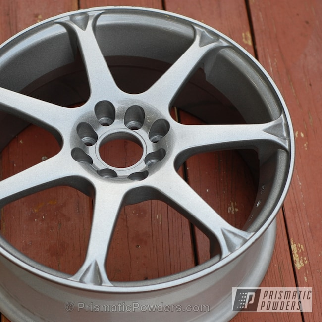 Powder Coating: Wheels,Custom,Silver,Clear Vision PPS-2974,Nissan Sentra Wheels,powder coating,powder coated,Prismatic Powders,Victory Silver PMB-5274