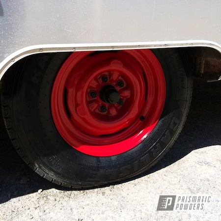 Powder Coating: Wheels,Automotive,Really Red PSS-4416,Rims,Airstream,Trailer