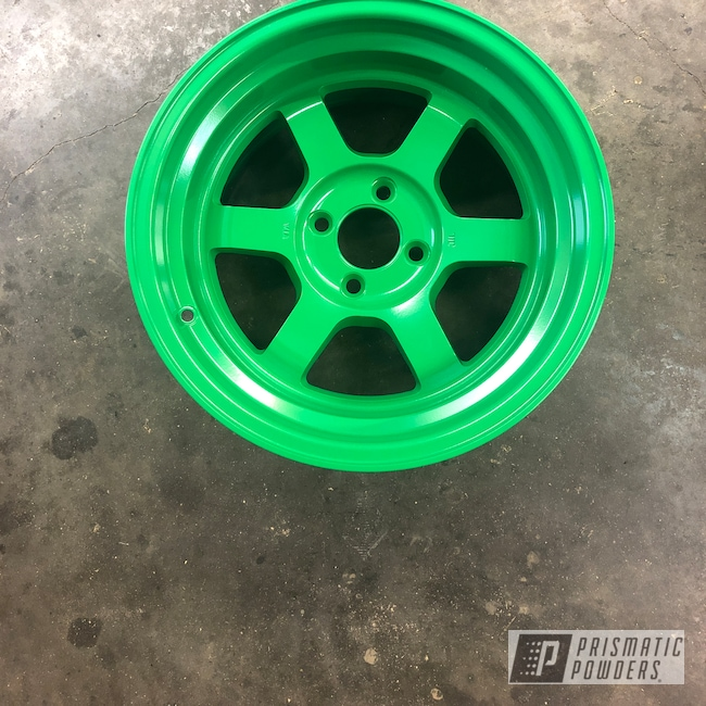 Powder Coating: Lucky Green PSB-6710,Wheels,Automotive,Civic Si,Honda,Aluminum Wheels