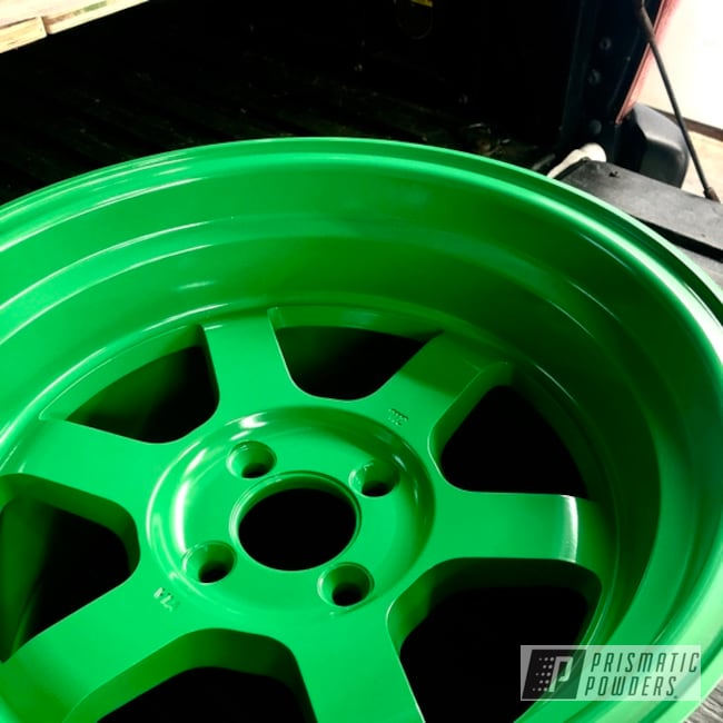 Honda Civic Si Wheels Coated In Lucky Green