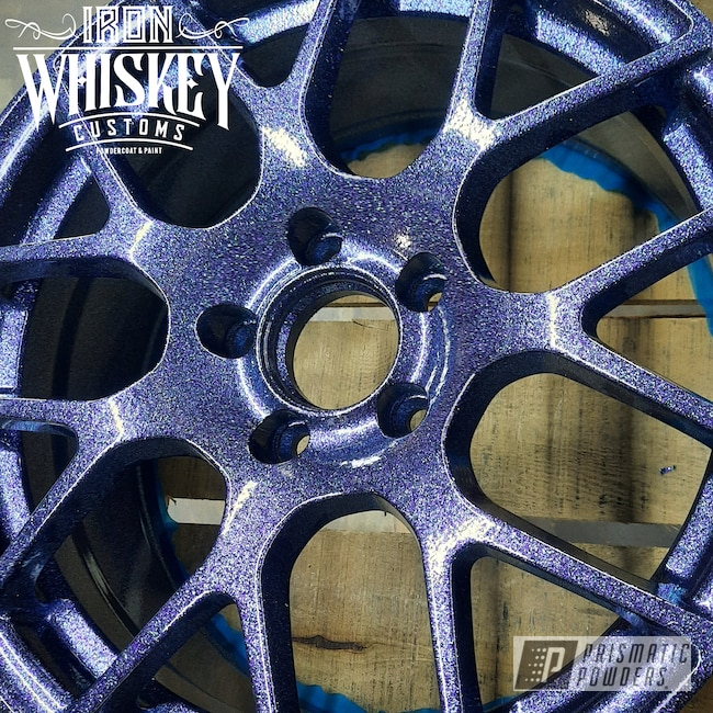 Powder Coating: Wheels,Automotive,Clear Vision PPS-2974,Ink Black PSS-0106,Disco Nights PPB-7055,Aluminum Wheels