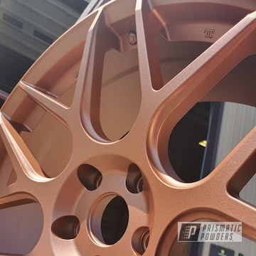 Wheels Coated With Fireside Copper