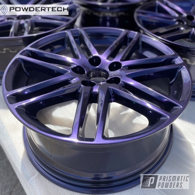 "Powder Coating: Wheels,Automotive,Alloy Wheels,18"",Lazer Purple PMB-4150,18"" Wheels,Toyota,Scion,Powdertech,18"" Aluminum Rims,TC"