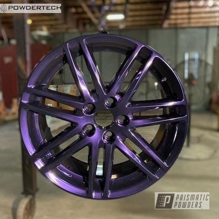 "Powder Coating: Wheels,Automotive,Alloy Wheels,18"",Lazer Purple PMB-4150,18"" Wheels,Toyota,Scion,Powdertech,18"" Aluminum Rims,TC"