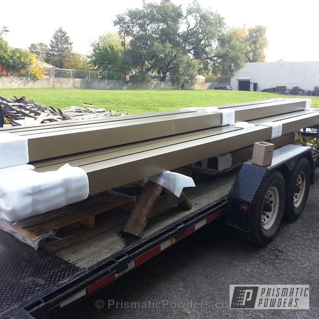 Powder Coating: Custom,Walts Gold PMB-4053,powder coating,powder coated,Prismatic Powders,Aluminum Struts,Miscellaneous