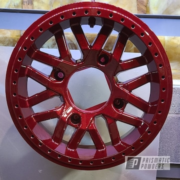 Powder Coated Rzr 1000 Wheels In Pps-2974 And Pmb-6905