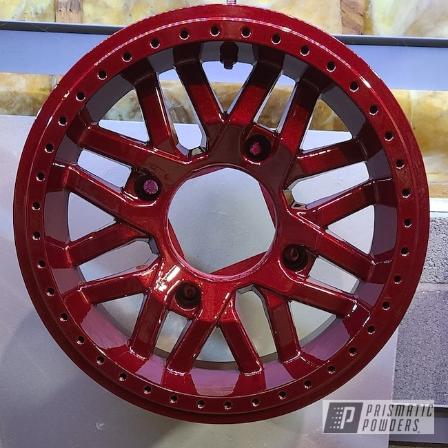 Powder Coating: Wheels,Automotive,Clear Vision PPS-2974,Rims,Polaris,Illusion Cherry PMB-6905,RZR