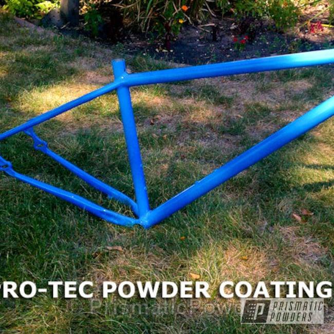 Powder Coating: Bicycles,Oh So Blue PSS-2965,Bike Frame,light blue
