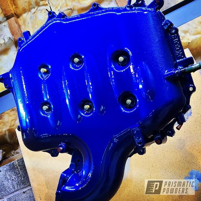 Powder Coating: Intake Manifold,g35,Automotive,Cheater Blue PPB-6815,Infiniti,Car Parts