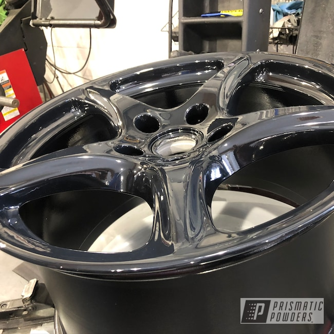 Powder Coating: Wheels,Automotive,Alloy Wheels,Clear Vision PPS-2974,Ink Black PSS-0106,Porsche,Aluminum,911