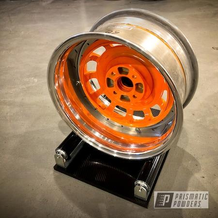 Powder Coating: Wheels,Automotive,Alloy Wheels,Clear Vision PPS-2974,VW Scirocco,New Tucker Orange PMB-4209,Aluminum,Mk1 Scirocco,Meister Werks,12 Spoke Sports