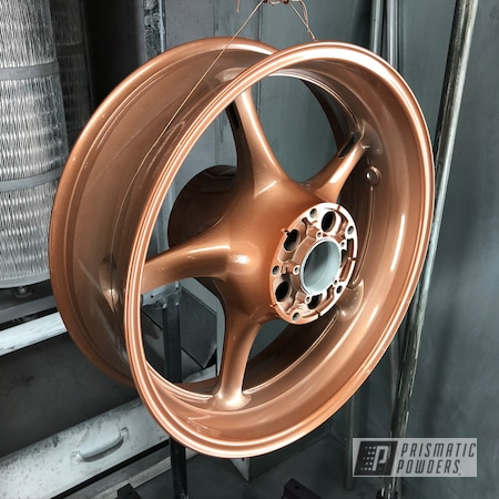 Powder Coating: Wheels,Alloy Wheels,Clear Vision PPS-2974,Aluminum Rims,Aluminum,Copper Coin PPB-7009,Motorcycles,Work
