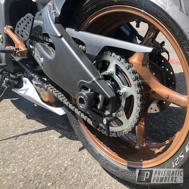 Powder Coating: Automotive,Clear Vision PPS-2974,Copper Frost PMB-5643,Motorcycle Parts,Motorcycle Wheels,Motorcycles