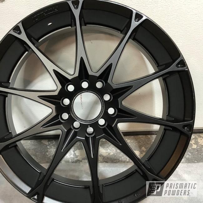 Powder Coating: MATTE CLEAR PPB-4509,Wheels,Automotive,Stone Black PSS-1168