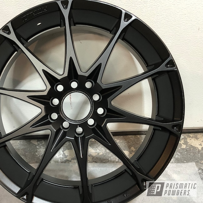 Powder Coating: MATTE CLEAR PPB-4509,Wheels,Automotive,Stone Black PSS-1168