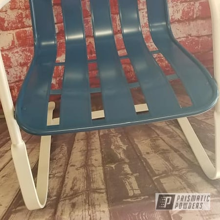 Powder Coating: Vintage Chairs,FLAT LUCKY BLUE PSB-4458,Patio Chairs,Patio Furniture,Outdoor Chairs,Low Gloss White PSB-6323,Lawn Chairs,FLAT TROLL BLUE PSB-10155