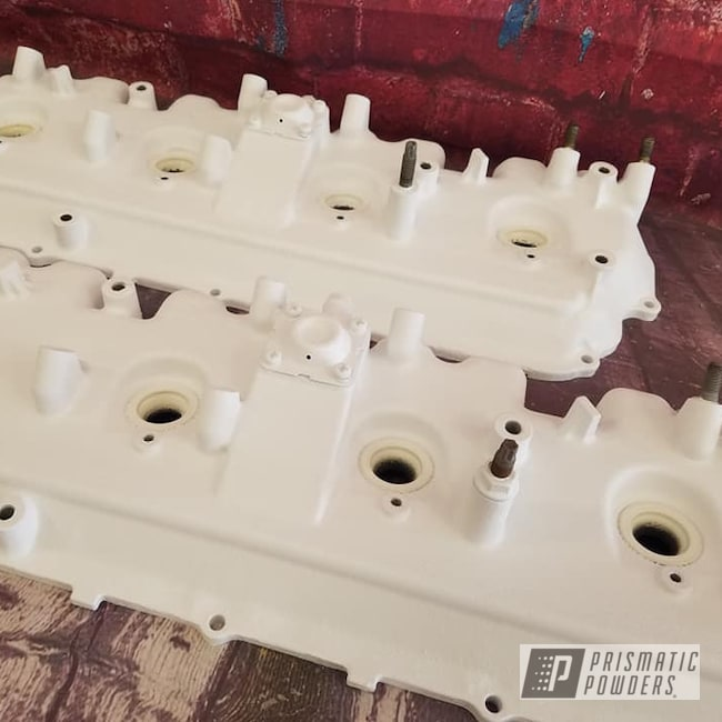 Powder Coating: Automotive,Valve Covers,Desert White Wrinkle PWS-2763,Automotive Parts