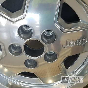 Powder Coated 15 Inch Jeep Rims In Pps-2974 And Pss-10300