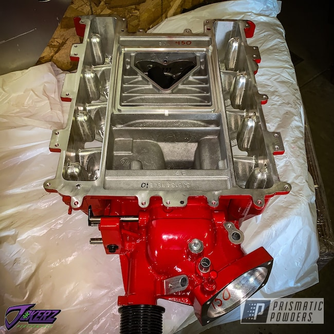 Powder Coating: Passion Red PSS-4783,Automotive,CTS-V,Chevrolet,ZL1,CTSV,Car Parts,Camaro ZL1,LSA Supercharger,Cadillac,Supercharger,Camaro