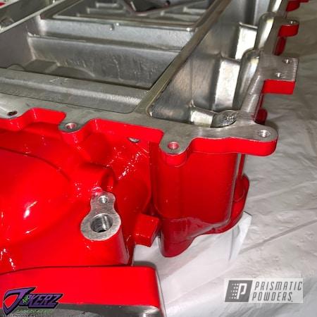 Powder Coating: Passion Red PSS-4783,Automotive,CTS-V,Chevrolet,ZL1,CTSV,Car Parts,Camaro ZL1,LSA Supercharger,Cadillac,Supercharger,Camaro