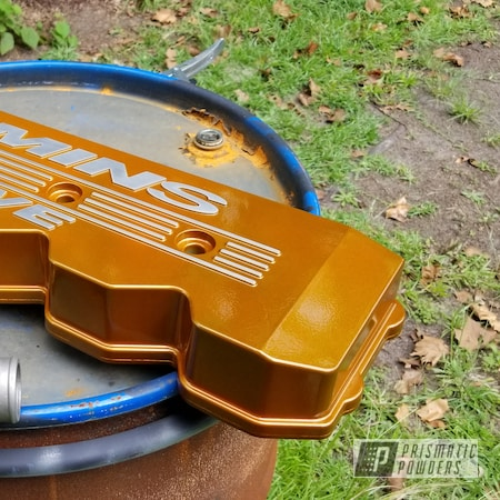 Powder Coating: Automotive,Clear Vision PPS-2974,Illusion Spanish Fly PMB-6920,Valve Covers,Dodge,Ram 2500,Ram,Valve Cover,2500