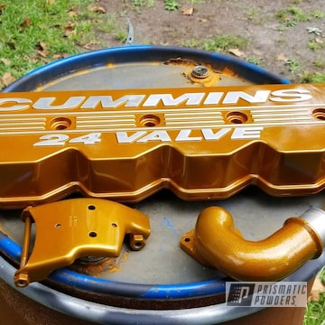 Powder Coated Valve Cover For A 2002 Dodge Ram