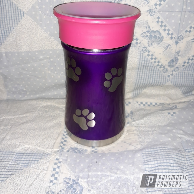 Powder Coating: Clear Vision PPS-2974,Aluminum,Custom Cup,Illusion Violet PSS-4514