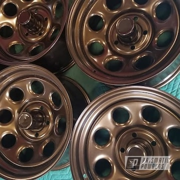 Powder Coated Set Of 16 Inch Steel Rims In Pmb-4124