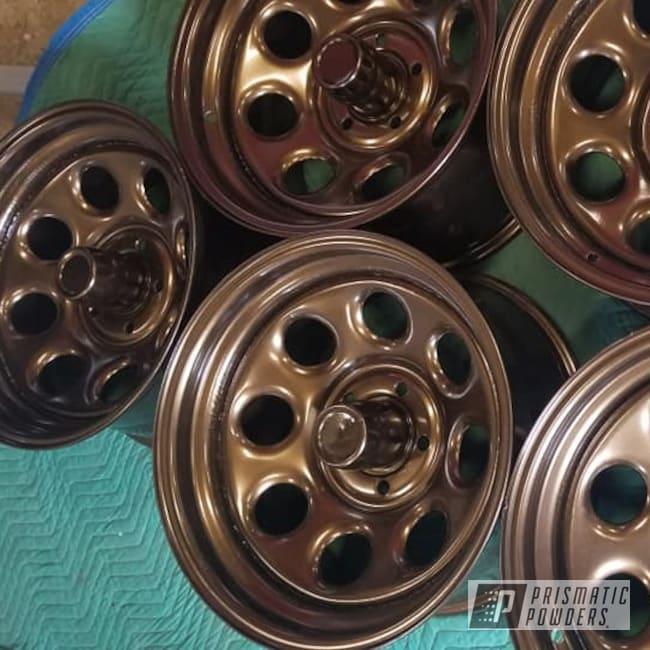 "Powder Coating: Wheels,Automotive,Bronze Chrome PMB-4124,Automotive Rims,Automotive Wheels,Steel Rims,16"" Steel Wheels"
