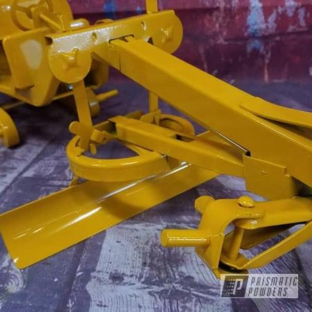 Powder Coating: Vintage Toy,Grader,Kids Toys,RAL 1007 Daffodil Yellow