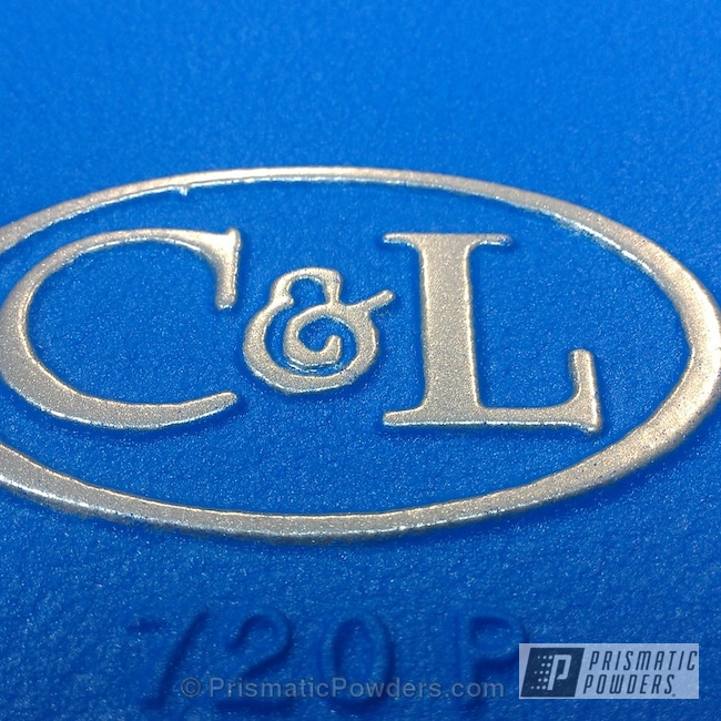 Powder Coating: Automotive,Heavy Silver PMS-0517,Blue Frost on the Intake,Blue Frost EWB-9104,Valve Cover