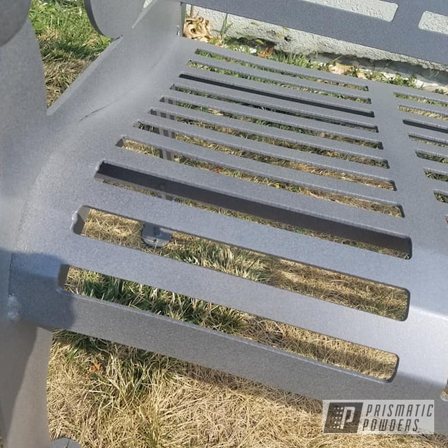 Powder Coating: Custom Park Bench,Custom Mix,Desert White Wrinkle PWS-2763,Outdoor Furniture,Custom Outdoor Furniture,PEWTER TEXTURE UTS-1269,Patio Bench,Park Bench