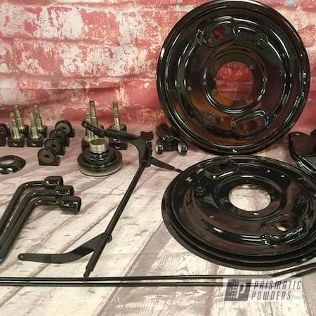 Powder Coating: Automotive,Suspension Parts,Alfa Romeo,GLOSS BLACK USS-2603,Automotive Parts