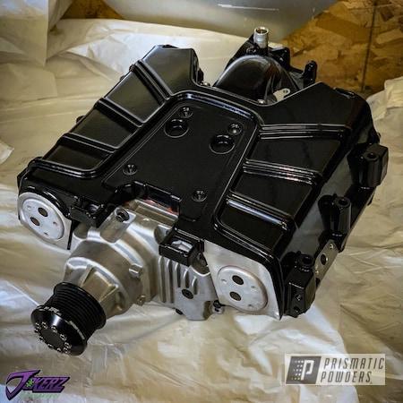 Powder Coating: Automotive,Ink Black PSS-0106,Audi,Audi Supercharger,Car Parts,Audi A4,Supercharger