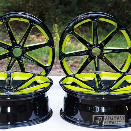 Powder Coating: Wheels,Automotive,Alloy Wheels,Clear Vision PPS-2974,Ink Black PSS-0106,M12 Diesel,Polaris,Illusion Shocker PMB-10050,Polaris RANGER